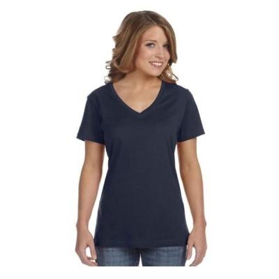 レディース 衣類 トップス Anvil Women's Featherweight V-Neck Tearaway Label T-Shirt Style 392 グラフィックティー