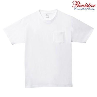 メンズ レディース キッズ Tシャツ 半袖 Vネック ポケット付き ヘビーウェイト 5.6オンス 無地 ホワイト XS サイズ 109-PCT