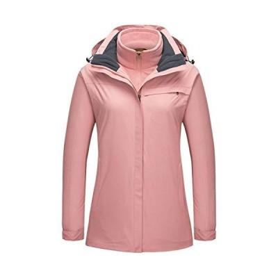 Women Waterproof Windproof Snowboard Thick Warm Snow Coat Outdoor Hiking Camping Climbing Jacket Pink XS【並行輸入品】