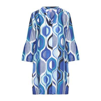 ARCHIVIO '67 ミニワンピース&ドレス ブルー 40 シルク 100% ミニワンピース&ドレス
