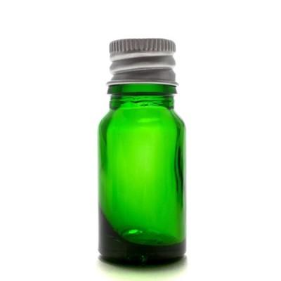 アロマ遮光瓶 10mL グリーン【アルミキャップ】