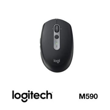 Logitech羅技 M590 多工靜音無線滑鼠 炭石黑(910-005200)