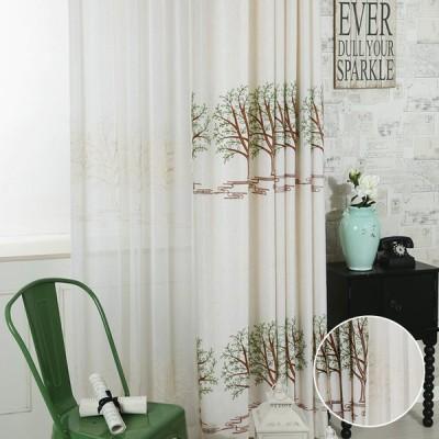 子供部屋 安い 新生活 北欧 刺繍 プレゼント 木柄 カーテンセット おしゃれ 植物柄 かわいい オーダー 幅60-100cm丈101-200cm 送料無料
