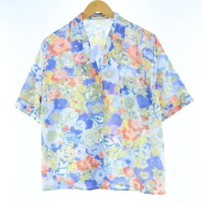 半袖 オープンカラー ポリシャツ レディースL /eaa029165