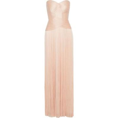 マリア ルーシア ホーハン MARIA LUCIA HOHAN レディース パーティードレス レースアップ selin strapless lace-up plisse silk-tulle gown Blush