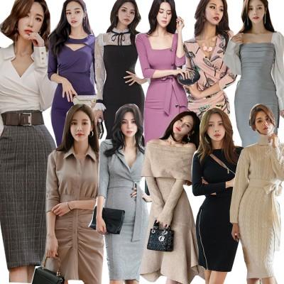 「 9/2 新作追加 Special Offer」  高品質ワンピースドレス韓国ファッションOL正式な場合礼装ドレスセクシーなワンピース一字肩二点セット ロングワンピース ニットワンピース
