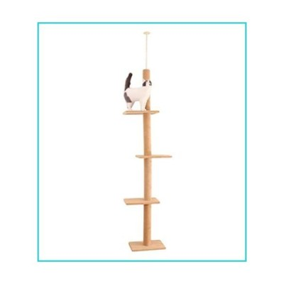 Miwaimao Fast Domestic Delivery Pet Cat Tree Tower Condo House Scratcher Post Toy for Cat Kitten Cat Jumping Toy with Ladder Playing Tree,AM