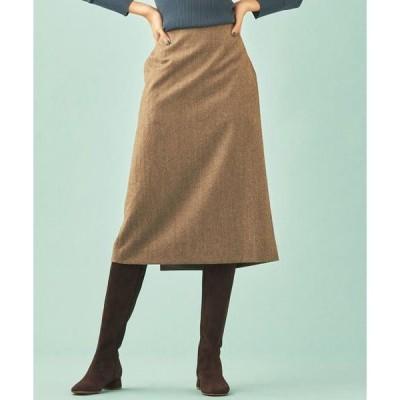 TOMORROWLAND / トゥモローランド ウールツイル Iラインスカート