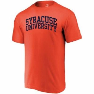 Alta Gracia アルタ グラシア スポーツ用品  Alta Gracia (Fair Trade) Syracuse Orange Orange Arched Wordmark T-Shirt
