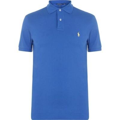 ラルフ ローレン Polo Ralph Lauren メンズ ポロシャツ スリム トップス Slim Fit Stretch Mesh Polo Shirt Bai Blue