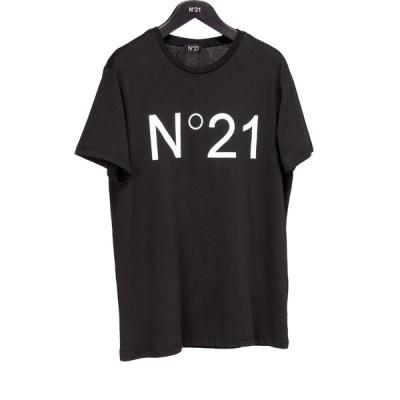 N°21 ヌメロ ヴェントゥーノ ユニセックス 定番ロゴカットソー BLACK
