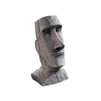 デザイン・トスカノ製 イースター島 モアイ像 AHU・アキビ モアイモノリス ガーデン像、デスクトップ用、灰色のストーン風彫刻 彫像(輸入
