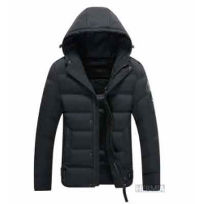 中綿ジャケット メンズ ジャケット アウター ブルゾン 中綿 フード付き 秋物 冬物 防寒 防風 ミリタリー