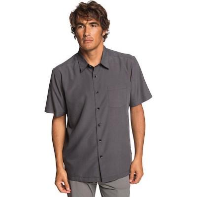 クイックシルバー シャツ メンズ トップス Quiksilver Men's Cane Island Shirt Black