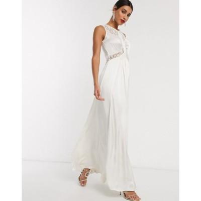 ゴースト レディース ワンピース トップス Ghost elvita wedding dress with lace neck detail