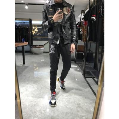 カジュアルジャケット メンズ ライダースジャケット 長袖 春 秋 3シーズン 通勤 通学 ファッション バイクジャケット