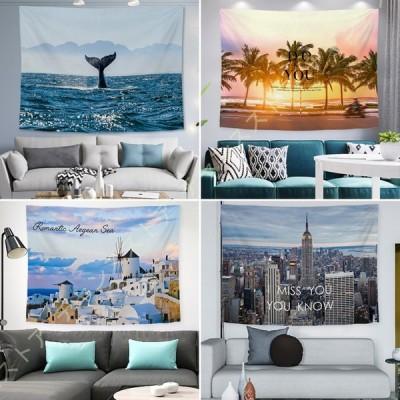 タペストリー おしゃれ壁掛け 壁掛けタペストリー 美しい海 椰子の木 風景画タペストリー 自然風景 部屋飾り ベッドルーム インテリア リビングルーム 西海岸