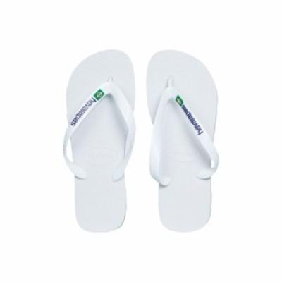 ハワイアナス Havaianas レディース ビーチサンダル シューズ・靴 Brasil Logo Unisex Flip Flops White