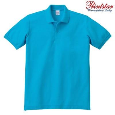 メンズ ポロシャツ 半袖 鹿の子 5.8オンス 無地 ターコイズ M サイズ 141-NVP