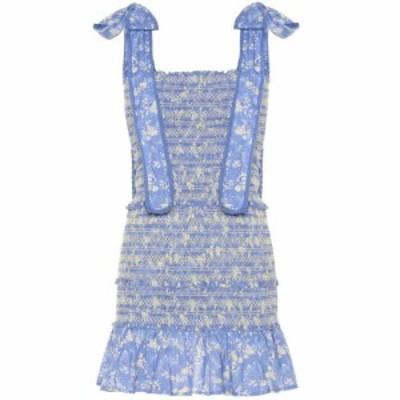 ラブシャックファンシー LoveShackFancy レディース ワンピース ワンピース・ドレス Belle smocked cotton minidress bluejay