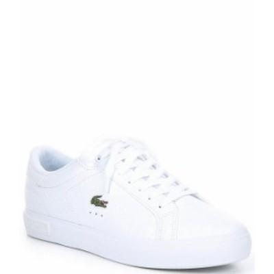 ラコステ レディース スニーカー シューズ Women's Powercourt 0721 2 SFA Lace-Up Sneakers White/White