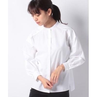 (ANAYI/アナイ)タイプライターバンドカラーシャツ/レディース ホワイト