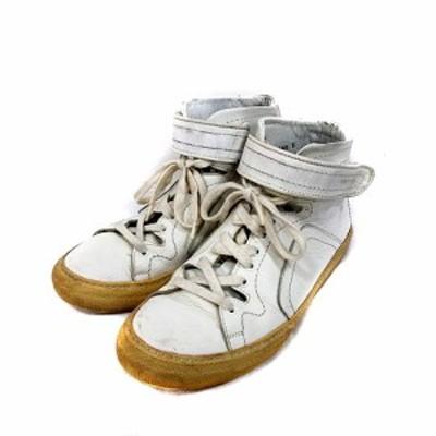 【中古】ピエールアルディ PIERRE HARDY スニーカー シューズ ハイカット 白 ホワイト /MS メンズ