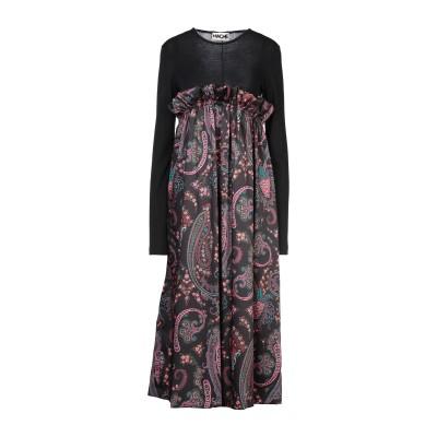 ハイケ HACHE 7分丈ワンピース・ドレス ブラック 46 ポリエステル 100% / バージンウール / アクリル 7分丈ワンピース・ドレス
