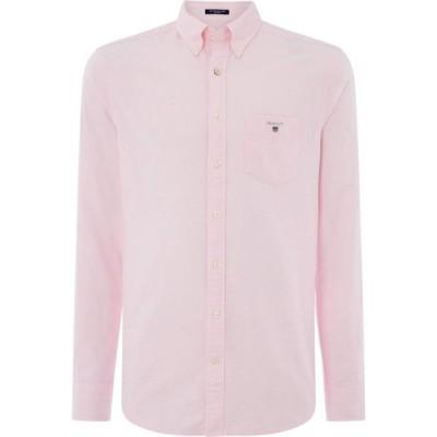 ガント Gant メンズ シャツ トップス Long Sleeve Oxford Shirt Pale Pink