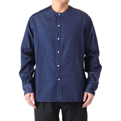 Scye サイ ノーカラー デニムシャツ 1121-31051 カラーレス 長袖シャツ メンズ