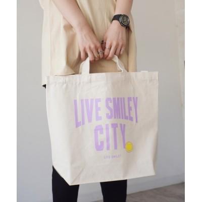 COLLARS / 【 LIVE SMILEY / ライブスマイリー 】 LIVE SMILEY SHOULDER 2WAY TOTE BAG WOMEN バッグ > トートバッグ