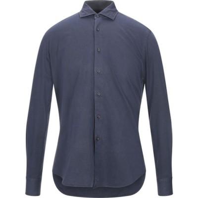 ザカス XACUS メンズ シャツ トップス Solid Color Shirt Dark blue