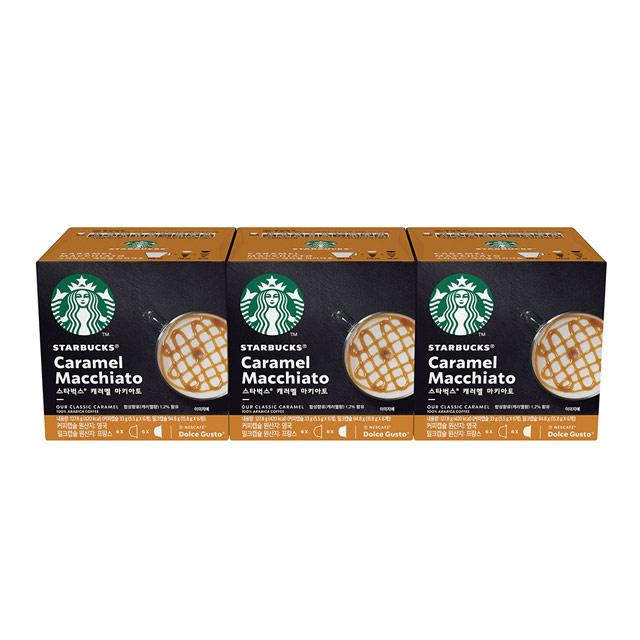 星巴克 焦糖瑪奇朵 咖啡 膠囊 3盒 36顆
