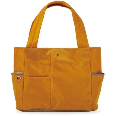 クラソ Kraso お弁当派さんにうれしい 大容量の保冷ポケット付き整理整とん軽量トートバッグ (ゴールデンブラウン)