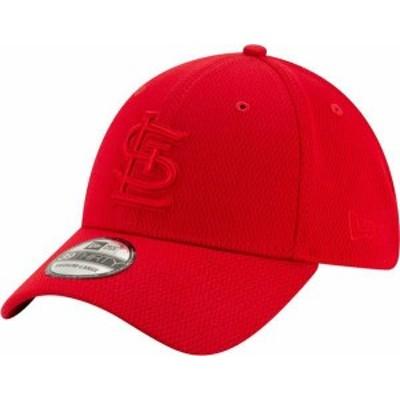 ニューエラ メンズ 帽子 アクセサリー New Era Men's St. Louis Cardinals Red 39Thirty Perftone Stretch Fit Hat -