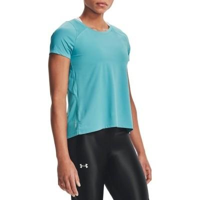 アンダーアーマー シャツ トップス レディース Under Armour Women's Iso-Chill Run 200 Short Sleeve Shirt Cosmos