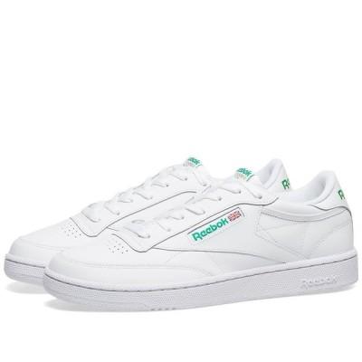 リーボック Reebok メンズ スニーカー シューズ・靴 Club C 85 White/Green