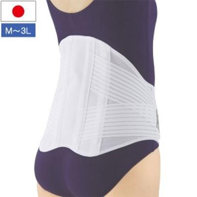 幅広腰椎コルセット 幅広タイプ 背中から腰椎サポーター 伸縮性2重ベルト