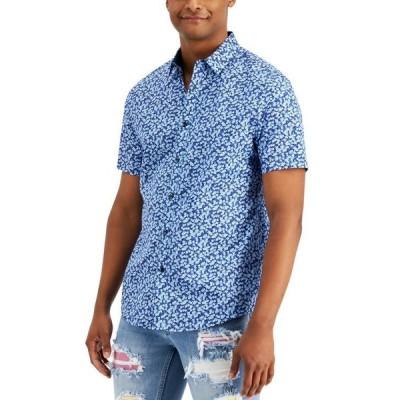 アイエヌシーインターナショナルコンセプト メンズ シャツ トップス INC Men's Brit Ditsy Short Sleeve Shirt