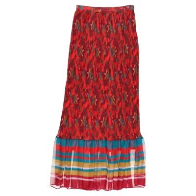 ツインセット シモーナ バルビエリ TWINSET ロングスカート レッド 42 ポリエステル 100% ロングスカート