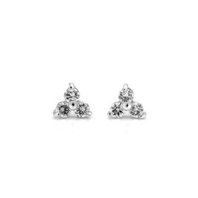 K18 ダイヤモンド フラワー ピアス 4月誕生石 アクセサリー