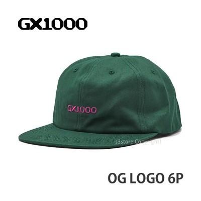 ジーエックスセン オリジナル ロゴ 6パネル GX1000 OG Logo 6P キャップ 帽子 野球帽 ストリート スケートボード スケボー Col:Green