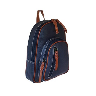 Rowallan Navy Leather Backpack 並行輸入品
