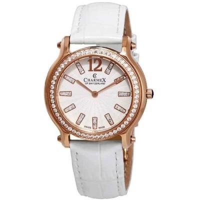 腕時計 シャーム Charmex Eze White Dial White Leather Ladies Watch 6340