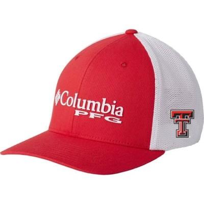 コロンビア Columbia メンズ キャップ 帽子 Texas Tech Red Raiders Red PFG Mesh Fitted Hat