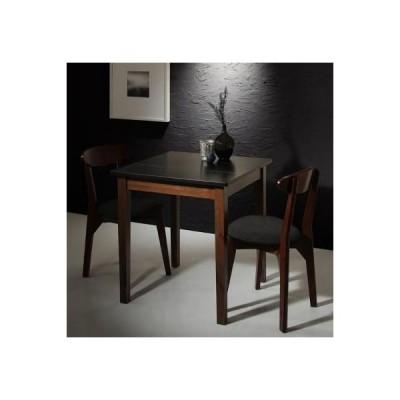 モダンデザイン ダイニング Worth ワース 3点セット(テーブル+チェア2脚) ブラック×ウォールナット W68