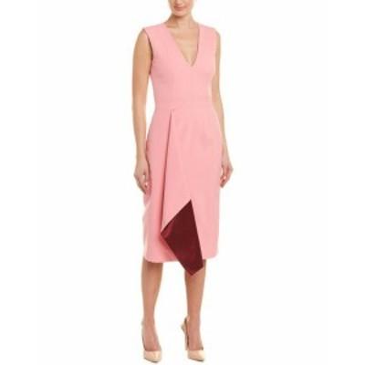 Alexander McQueen アレキサンダーマックイーン ファッション ドレス Alexander Mcqueen Drape Wool & Silk-Blend Sheath Dress 40 Pink