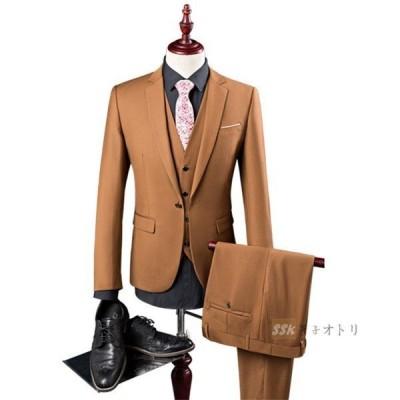【セール】スリーピーススーツ メンズ 3ピーススーツ WE ビジネススーツ 1つボタン スリムスーツ 通勤 入学式 成人式 結婚式 発表会 秋冬