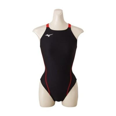 MIZUNO ミズノ エクサースーツ ミディアムカット ブラック×レッド N2MA8261 水泳 スイミング 水着