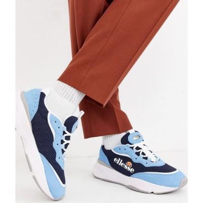 エレッセ ellesse メンズ スニーカー シューズ・靴 Ellesse massello trainer in navy/blue ネイビー